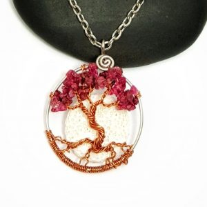 July Birthstone Tree of Life with Oil Diffusing Moon