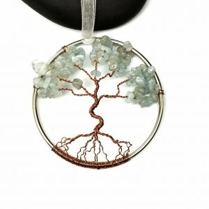 Aquamarine 3 Inch Tree of Life Suncatcher/Wall Decor