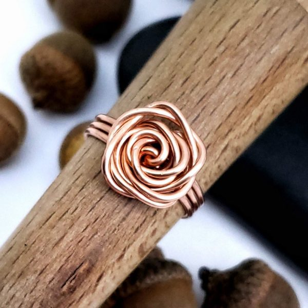 Bare Copper Rose Ring