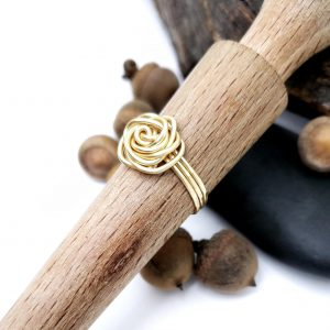 Gold Color Copper Rose Ring