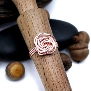 Rose Gold Colored Copper Rose Ring