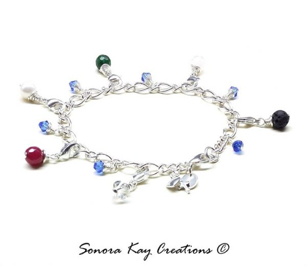 Silver Plated Purity Charm Bracelet Jade Style