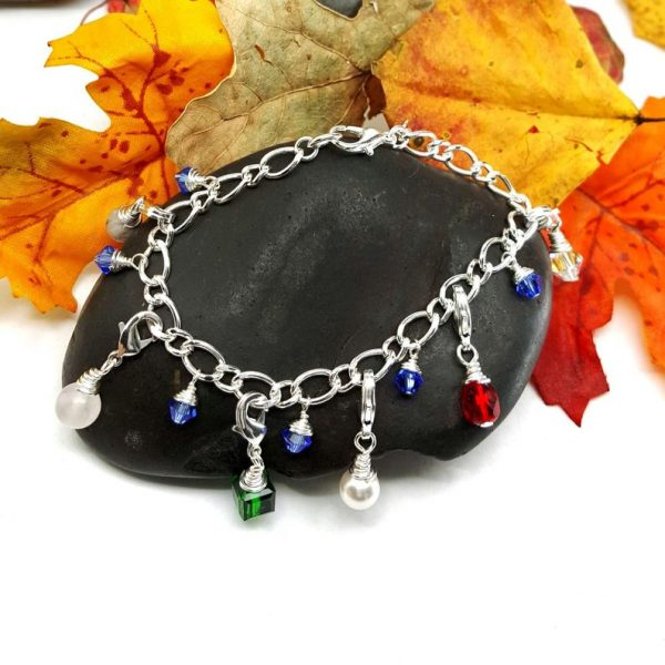 Silver Plated Purity Charm Bracelet