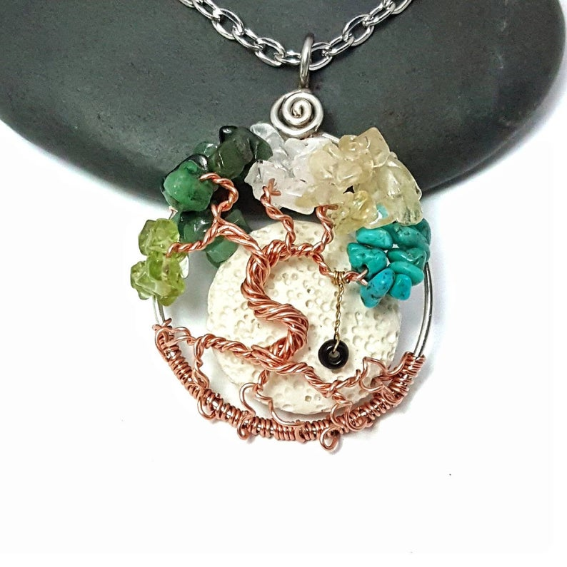Copper Family Birthstone Tree of Life