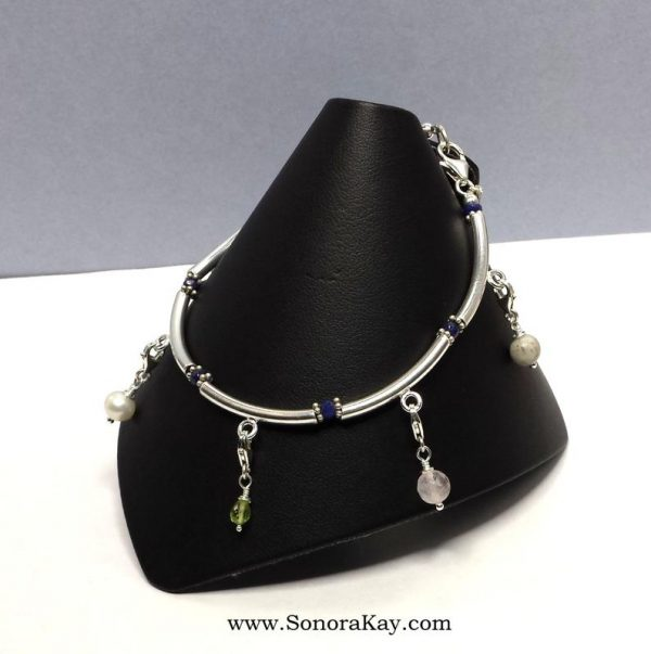 Sterling Silver Bangle Style Purity Charm Bracelet3