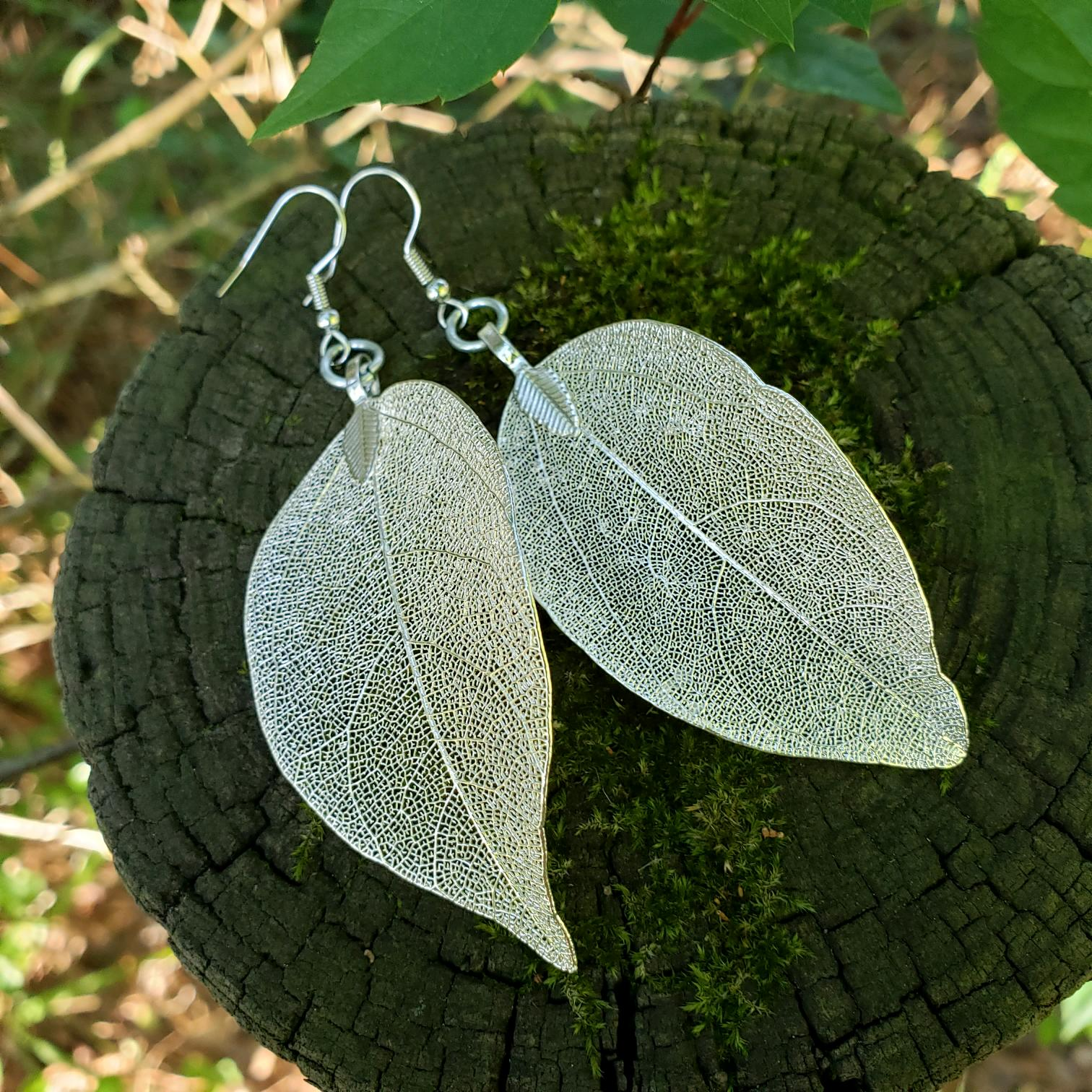 Silver Electroplated Leaves