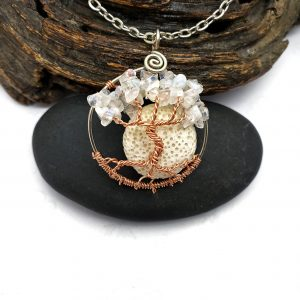 Moonstone Tree of Life Pendant with Scent Diffusing Moon