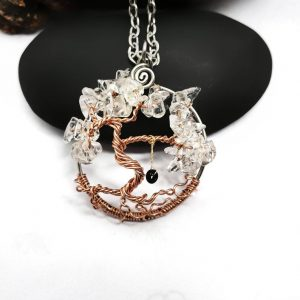 Clear Crystal Tree of Life with Swing