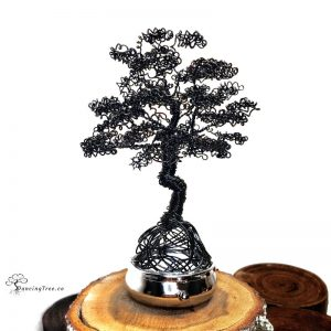 Ebony Dreams Dancing Tree on Metal base/box