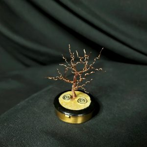 Miniature Winter Dancing Tree of Life with Metal Base with a black background