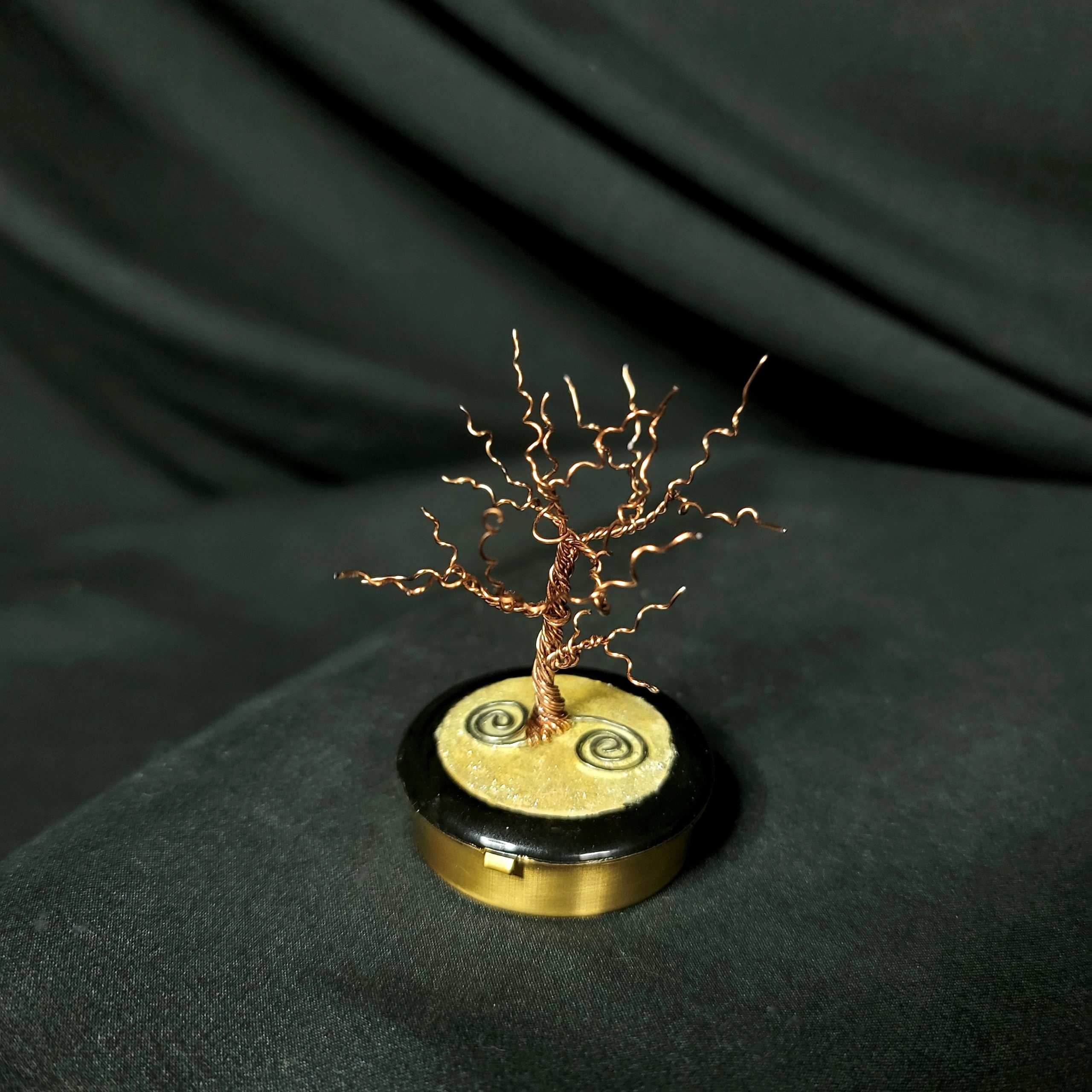 Miniature Winter Dancing Tree of Life with Metal Base