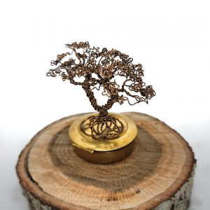 Micro Golden Summer Dancing Tree Sculpture