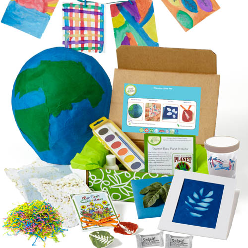 Green Kid Craft subscription box example