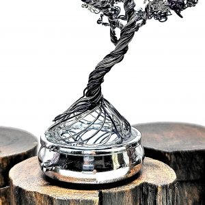 Halloween Ghost Tree on Silver Base