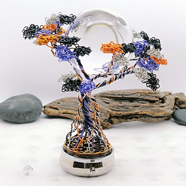 Halloween Crystal Ball Dancing Tree Sculpture